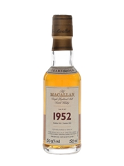 Macallan 1952 50 Year Old Fine & Rare