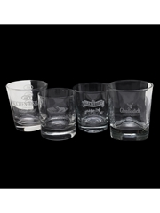 Assorted Whisky Tumblers Auchentoshan, Blair Athol, Glenfiddich, Glenturret
