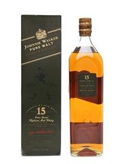 Johnnie Walker Pure Malt 15 Year Old Bottled 1990s 100cl