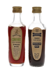 Chaplins & Seagavin Bottled 1960s 2 x 10cl