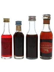 Cinzano Bitter, Elixir China & Vermouth Bottled 1950s-1980s 4 x 3.8cl-5cl