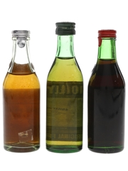 Noilly Prat Vermouth Bottled 1950s & 1980s 3 x 5cl / 17%