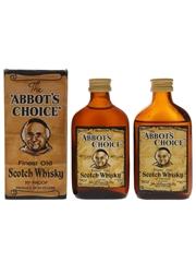 Abbot's Choice Bottled 1970s - John McEwan & Co. 2 x 5cl / 40%
