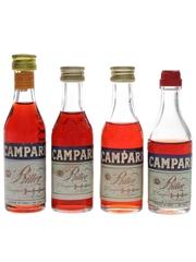 Campari Bitter Bottled 1970s & 1980s 4 x 5cl