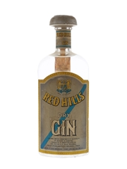Red Hills Dry Gin Bottled 1960s 75cl / 45%