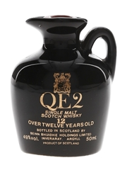 QE2 12 Year Old Ceramic Decanter Bottled 1980s 5cl / 49%