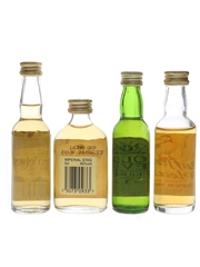 Assorted Blended Scotch Whisky Golden Velvet, Imperial Stag, Old Level, Puffin's Pleasure 4 x 4cl & 5cl