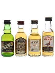 Black Bottle, Chivas Regal, Dewar's & Famous Grouse  4 x 5cl