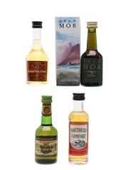 Assorted World Liqueurs Cuarenta y Tres, Mrs McGillvray's, Oran Mor & Southern Comfort 4 x 5cl / 25%