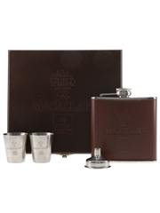 Macallan Hip Flask With Funnel And Cups