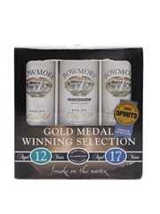 Bowmore Gold Medal Winning Selection 12 Year Old, Darkest & 17 Year Old 3 x 5cl / 43%