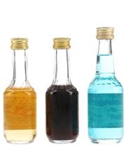 Bols Apricot, Cherry & Parfait Amour Bottled 1970s & 1980s 3 x 5cl / 27.3%