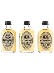 Glen Grant 12 Year Old Bottled 1970s-1980s 3 x 5cl / 40%