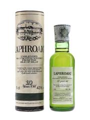 Laphroaig 10 Year Old Unblended Bottled 1980s - Cinzano 5cl / 43%
