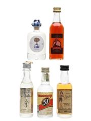 Assorted Rum & Cachaca Fuba, Goslings, Havana Club, Sailor Jerry, Pirassununga 5 x 4cl-5cl / 40%
