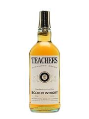 Teacher's Highland Cream Bottled 1970s 75cl