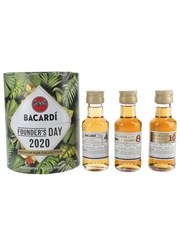 Bacardi Founder's Day 2020 4 Year Old, 8 Year Old, 10 Year Old 3 x 10cl / 40%