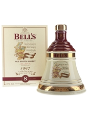 Bell's Christmas 1997 Ceramic Decanter