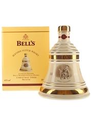 Bell's Christmas 2006 Ceramic Decanter