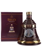 Bell's Christmas 2002 Ceramic Decanter