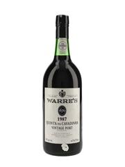 Warre's Quinta Da Cavadinha 1987 Vintage Port Bottled 1989 75cl / 20%