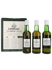 Laphroaig Collection 10 Year Old, 15 Year Old, 10 Year Old Cask Strength - Bottled 1990s 3 x 33.3cl