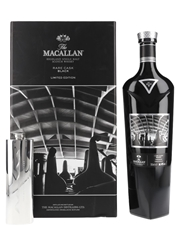 Macallan Rare Cask Black The Quaich Co. Pewter Hip Flask 70cl / 48%