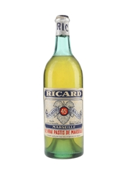 Ricard 45 Pastis Bottled 1960s 100cl / 45%