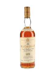 Macallan 1972 18 Year Old Bottled 1990 75cl / 43%