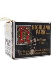 Highland Park 12 Year Old Bottled 1980s - Screen Printed 6 x 75cl / 40%