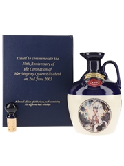 Rutherford's 100 Single Malts Ceramic Decanter 50th Anniversary Of The Coronation Of Queen Elizabeth II 1953-2003 70cl / 40%