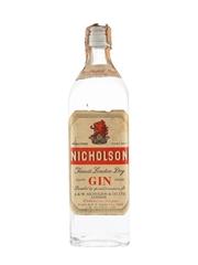 Nicholson Finest London Dry Gin Bottled 1960s - Carpano 75cl / 45%