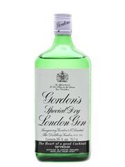 Gordon's Special Dry London Gin Bottled 1970s 12 x 75.7cl / 40%