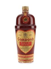 Gordon's Martini Cocktail Spring Cap Bottled 1950s 75cl / 26.2%