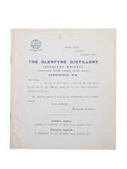 William Foulds List Of Old Scotch Whiskies, February 1893
