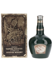 Royal Salute 21 Year Old Bottled 1970s - Green Spode Ceramic Decanter 75cl / 40%