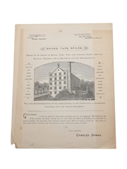 Charles Spinks Shives, Taps, Spiles Price List