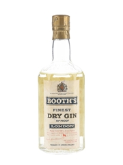 Booth's Finest Dry Gin Bottled 1960s 37.5cl / 40%