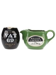 Vat 69 & William Lawson's Water Jugs