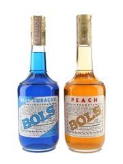 Bols Blue Curacao & Peach Liqueur