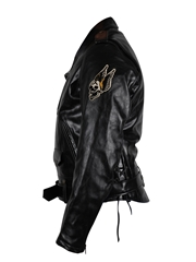 Sailor Jerry Leather Jacket Schott - Genuine Cowhide Leather Large