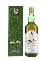 Talisker 12 Year Old Bottled 1980s - John Walker & Sons 75cl / 43%