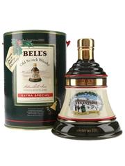 Bell's Christmas 1989 Ceramic Decanter