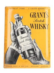 Grant's Scotch Whisky Vintage Tin Bar Sign  39cm x 29.5cm