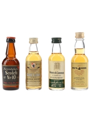 Acredyke's No.10, Gold Label, House Of Commons & Pig's Nose Bottled 1970s-1980s 4 x 4cl-5cl