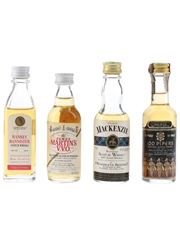 Hankey Bannister, James Martin's VVO, Seagram's & The Real Mackenzie Bottled 1970s & 1980s 4 x 4.7cl-5cl