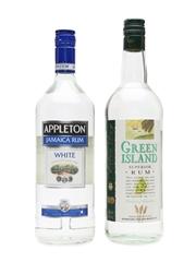 Appleton White & Green Island Superior Rum  2 x 100cl / 38.5%