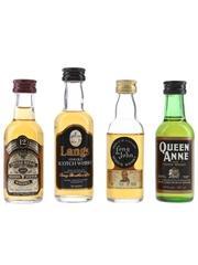 Assorted Blended Scotch Whisky Chivas Regal, Langs, Long John & Queen Anne 4 x 4.7cl-5cl