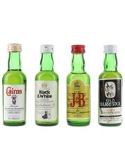 Black & White, Cairns, Old Barrister & J&B Bottled 1970s & 1980s 4 x 5cl