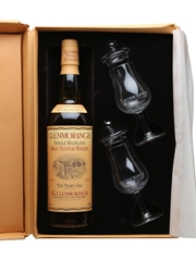 Glenmorangie 10 Year Old Old Presentation With Glasses 70cl
